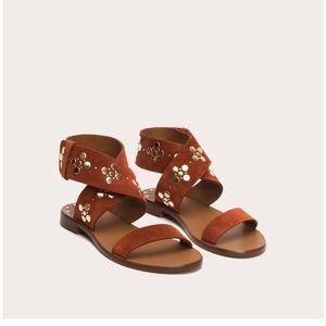 Frye Halle Stud Ankle Wrap Sandals